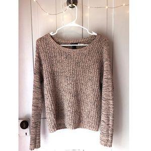 Light Pink & Black Sweater